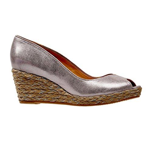 Van Dal Daly, Damen Espadrilles, Silber - Bamboo Metallic - Größe: 37.5