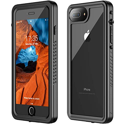 GOLDJU iPhone 7 Plus Waterproof Case,iPhone 8 Plus Waterproof Case 2019 Full Body Protective IP68 Underwater Shockproof Dirtproof Sandproof Waterproof Case for iPhone 7 Plus/iPhone 8 Plus(5.5)
