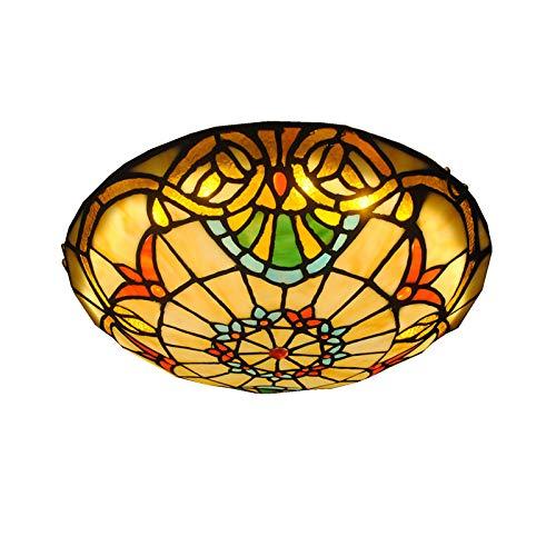 Lámpara De Techo Estilo Tiffany, 12 Pulgadas,