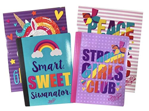 JoJo Siwa School Supplies Bundle (2 Composition Notebooks and 2 Pocket Folders)