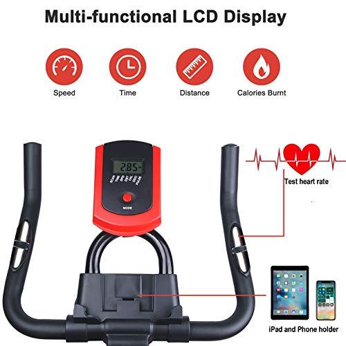 51qAd0rz4OL - Bicicleta Estática| Bicicleta de Interior ,6 Ajustes de Altura de Reposabrazos y Cojines,Magnetorresistencia ilimitada,Monitor LCD de Frecuencia Cardíaca, Entrenamientos cardiovasculares en casa.