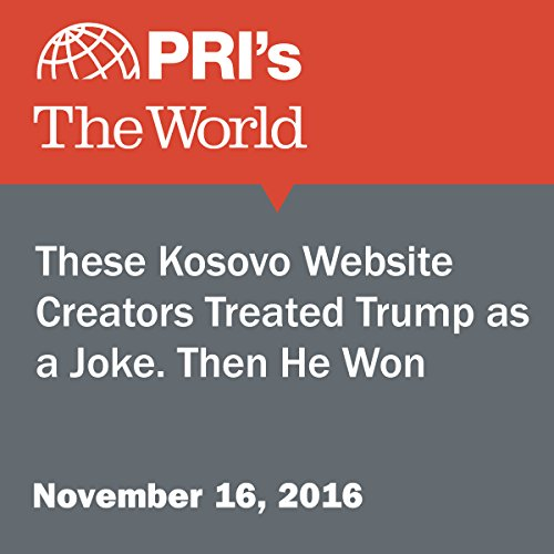 These Kosovo Website Creators Treated Trump as a Joke. Then He Won. audiobook cover art