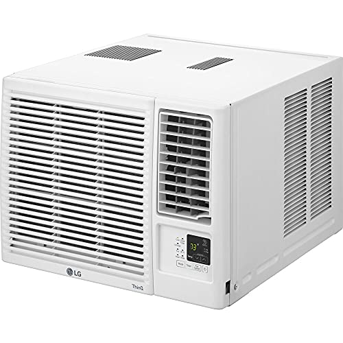 LG Electronics LG 8,000 BTU Heat and Cool Window Air Conditioner with WiFi Controls, LW8021HRSM, 13.880, White