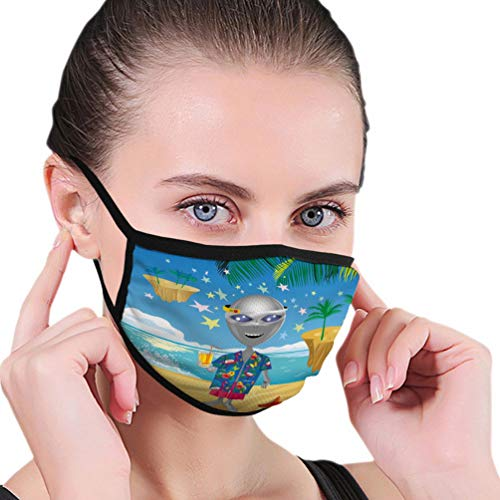 Lowest Prices! Xunulyn Mouth Shield Dust Face Shield Image Cheerful Alien Virtual Reality Glasses be...