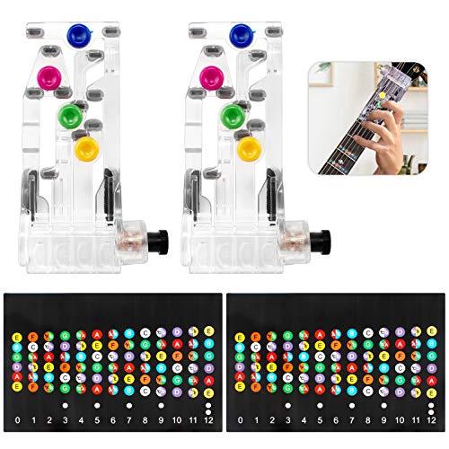 4 Pcs Gitarren Übungshilfe E-Gitarre ÜbungshilfeGitarren Übungswerkzeug Akkord-Übungswerkzeug mit Gitarren Griffbrettaufkleber Gitarre Griffbrett Noten Aufkleber Für Anfänger Akustik/Westerngitarre