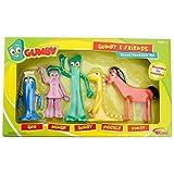 NJ Croce Gumby & Friends Action Figure Boxed Set, Multicolor