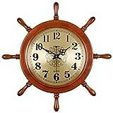 WJBH新しい中国の家庭用時計無垢材ミュートクリエイティブリビングルーム壁時計中国のレトロな装飾人格ラダー壁時計最大直径59センチダイヤル31センチ