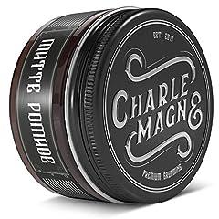 Charlemagne Matte Pomade Water-Based - Strong Hold - Best Hair Wax Mat Kort of Lang Haar - Matte Hair Wax Mannen Pomade Mens - Haar wax mannen wax haar wax haar wax haarhaar pasta *