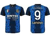 L.C. SPORT SRL Camiseta del Inter Romelu Lukaku 9, réplica autorizada 2021-2022, para niño, niño y adulto