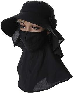 WN - Sombrero - Visera de verano para mujer Ciclismo al aire libre Cubierta Cuello para la cara Sombrero para el sol Protección UV Sombrero para el sol Máscara desmontable (2 colores) Sombrero para mu