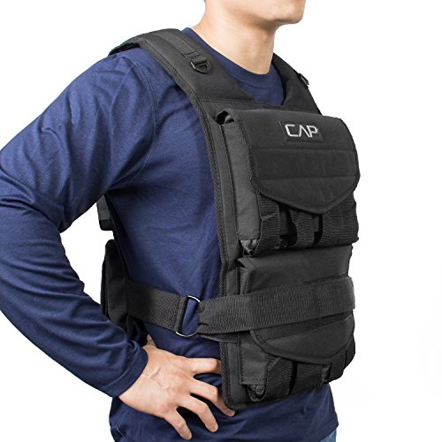 Product Image 1: CAP Barbell Adjustable Weighted Vest, 40 lb