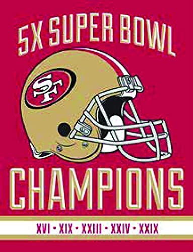 Omaha Mall Northwest NFL San Francisco 49ers Limited time cheap sale Super Multi Bowl Year Champion