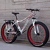 Neumático grande Bicicleta de montaña Neumático grande Velocidad variable Amortiguador Bicicleta de nieve Playa Off-Road Hombres y mujeres adultos Coche doble, para estudiantes, desplazamientos