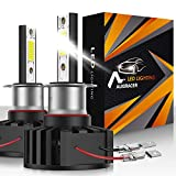 AUXIRACER Auto Lighting H3 LED Bombillas para Faros Delanteros 12000LM 6500K 60W Luz LED para Coche, Faros Delanteros y Faros Antiniebla IP65 a Prueba de Agua (2 PCS)