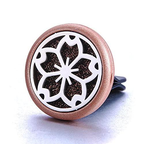 Árbol de la vida Difusor de aromaterapia Medallón Perfume Aceite esencial Difusor de aroma Collar Colgante Ambientador Accesorios de coche