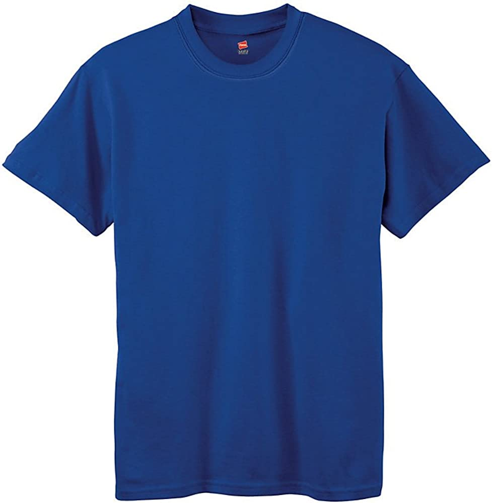 Hanes Boys 5.2 oz. ComfortSoft Cotton T-Shirt 5480 -DEEP ROYAL XS