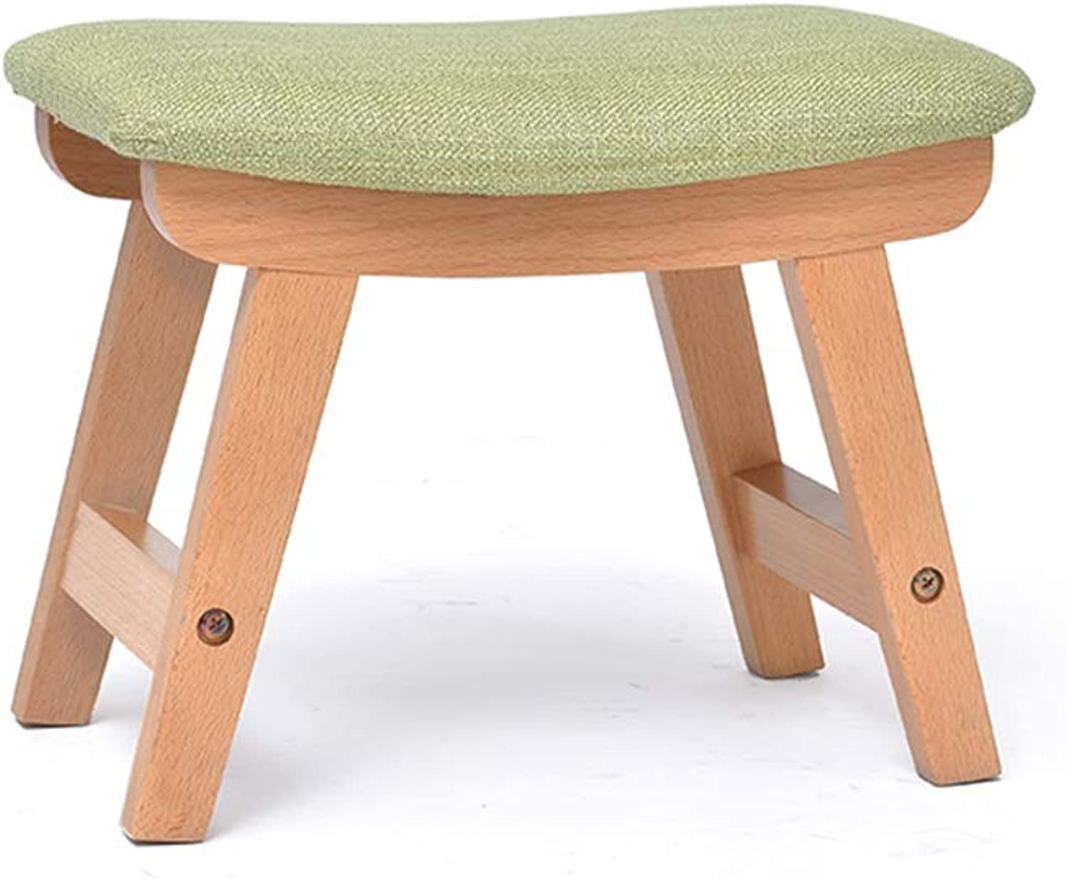 Solid Wood Small Bench Home Adult wear shoes stool Sofa Fabric stool
