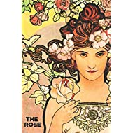 The Rose: Unlined/Plain Notebook - Easy to carry - Czech Vintage Artwork