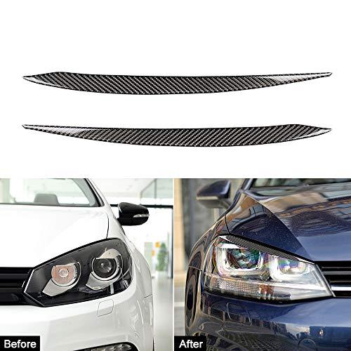 JXSMQC 2st koolstofvezel auto styling voor ooglid wenkbrauw koplamp Cover stickers.Voor Volkswagen VW Golf 7 7.5 Koplamp Wenkbrauw