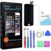 Nklglobal Ersatz Bildschirm Compatible for iPhone 6s LCD Display Schwarz Digitizer Glas Touchscreen mit Werkzeuge
