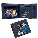 Portafoglio Uomo Personalizzato con Foto, Regalo Festa del Papà Regali Personalizzati RFID Card Protection