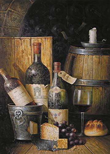 DKISEE Rompecabezas de 300 piezas, vino y vino barricas de madera, regalo creativo, juguetes educativos clásicos para adultos y familias
