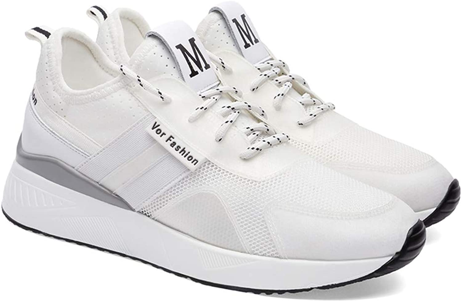 Zarbrina Women's Platform Athletic Casual Mesh Comfy Walking Sneakers - Breathable Increased Height shoes
