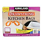 KIRKLAND SIGNATURE Drawstring Kitchen Trash Bags - 13 Gallon, 200 Count