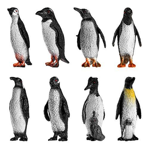 Toyvian 8 stücke Pinguin Figur Spielzeug Kunststoff Pinguin Modell für Kinder Kleinkinder früherziehung