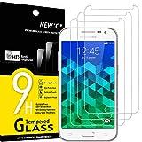 NEW'C 3 Unidades, Protector de Pantalla para Samsung Galaxy Core Prime (G360, Antiarañazos, Antihuellas, Sin Burbujas, Dureza 9H, 0.33 mm Ultra Transparente, Vidrio Templado Ultra Resistente