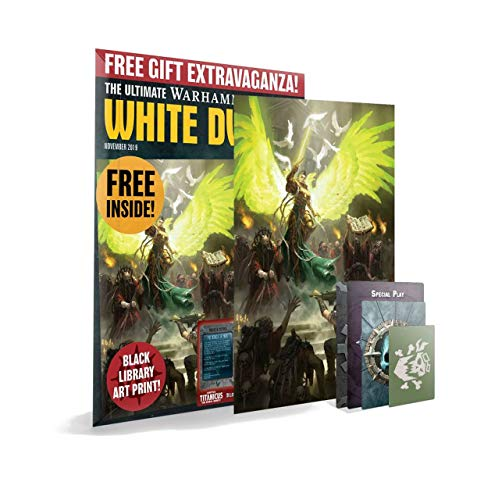 White Dwarf (Single Issue) November 2019 - Warhammer 40k - Free Black Library Art Print & Four (4) Exclusive Cards