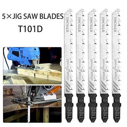 DeWalt Festool 5pcs T118/A HSS 50/mm hoja de sierra caladora de corte madera para Bosch para corte de metal estrecho Makita