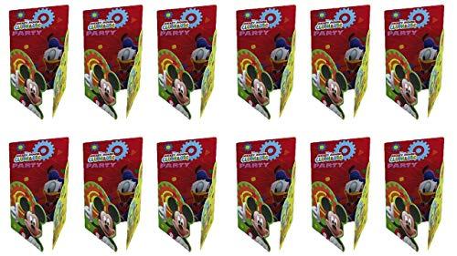ALMACENESADAN 2493; Pack 12 Invitaciones Disney Mickey Mouse Clubhouse; Ideal para Fiestas y cumpleaños