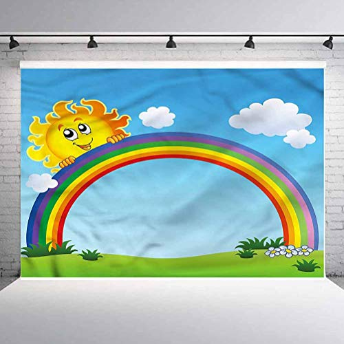 8x8FT Vinyl Photography Backdrop,Ancient Sunset Background Newborn Birthday Party Banner Photo Shoot Booth