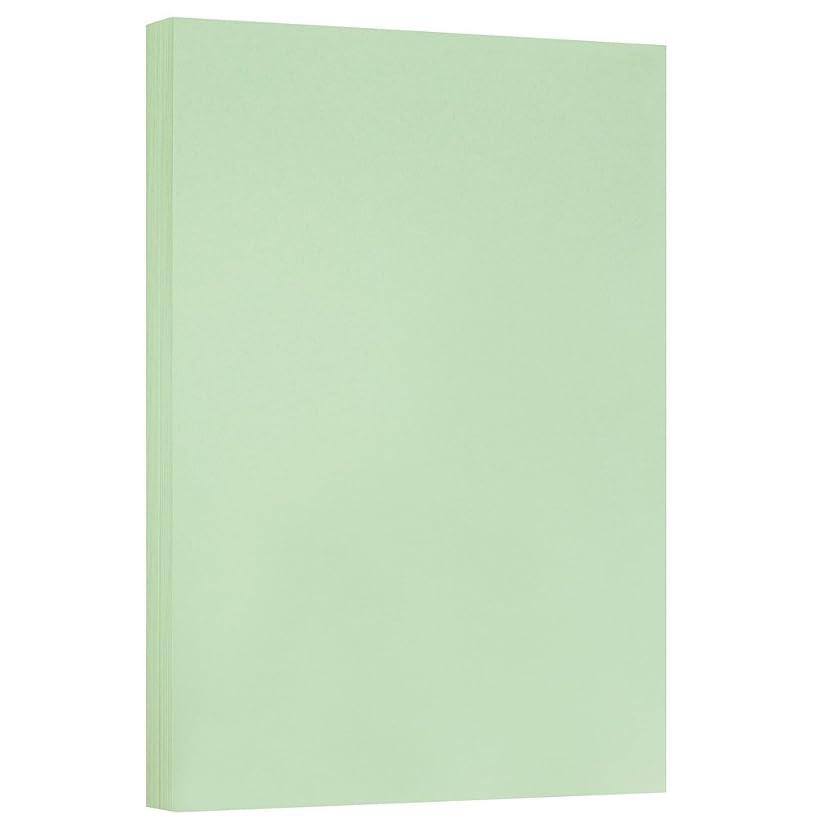 JAM PAPER Vellum Bristol 67lb Cardstock - 11 x 17 Letter Coverstock - Green - 50 Sheets/Pack