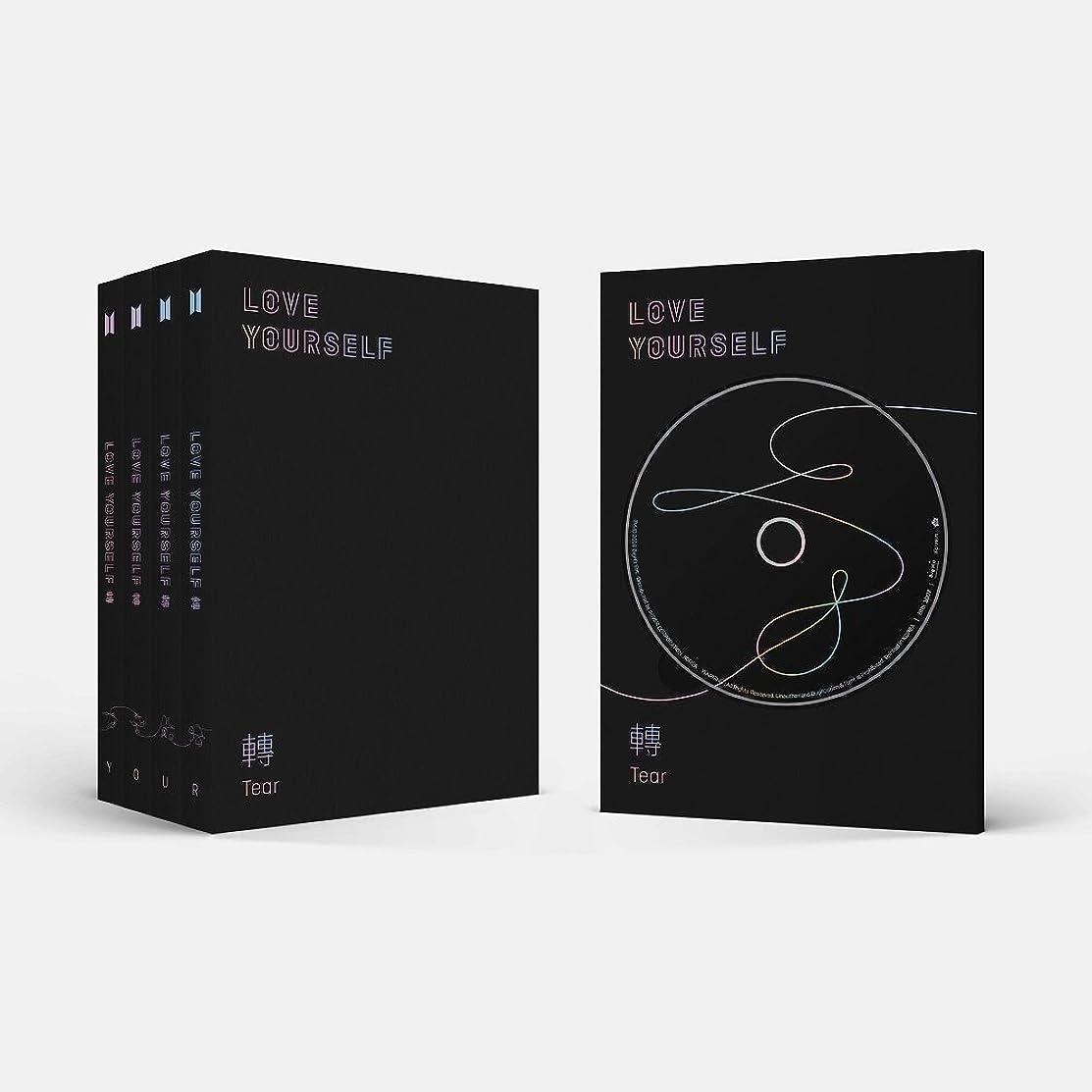 BTS-[Love Yourself 轉'Tear'] 3rd Album 4 Ver SET CD+104p PhotoBook+20p Mini Book+1p PhotoCard+1p Staing PhotoCard+Pre-Order Benefit K-POP Sealed