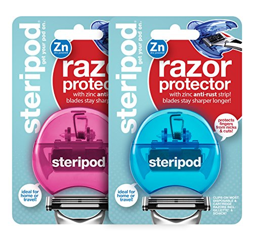 Steripod Razorpod - Clip-On Razor Protector (2-Pack Blue & Pink)