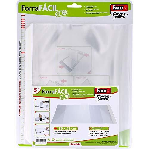 Fixo Cover 01014100-Paquete de 5 Forra Fácil Eco con solapa ajustable de 280 x 520 mm