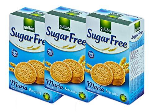 Galletas Maria sin Azúcar Gullon 400g x 3 Cajas