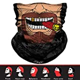 Skull Face Mask, 3D Tube Mask Seamless Durable Face Mask Bandana Skeleton Face Mask for Motorcycle Fishing Cycling