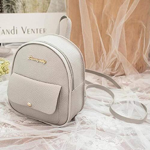 FBFGMini Backpack Women PU Leather Shoulder Bag For Teenage Girls Kids Multi-Function Bagpack Female Ladies School Bag Sac