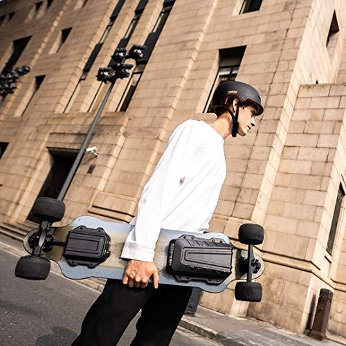 Teamgee H20T Elektro Skateboard 96.5cm mit Drahtloser Bluetooth Fernsteuerung,Elektrisch Longboard mit Gummi Reifen Räder für Teenager und Erwachsene,42KPH MAX Geschwindigkeit, 1200W Nabenmotoren