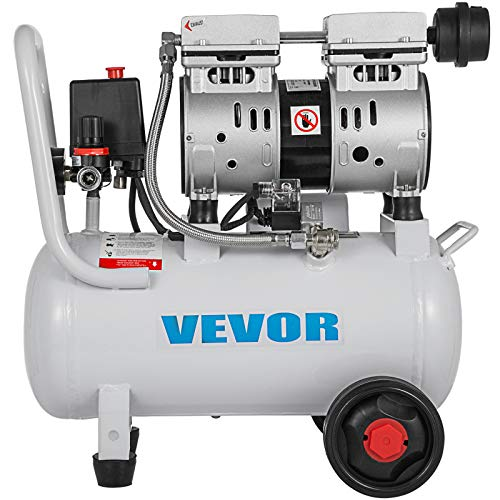 VEVOR Compresor de Aire sin Aceite Silencioso de 4 Galones / 18 Litros