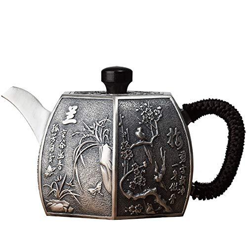 Z.L.FFLZ Teiera d'Argento Teiera Cinese Kung Fu Puro Argento Sterling 999 Fatti a Mano caffè bevewware Tazza bollitore...