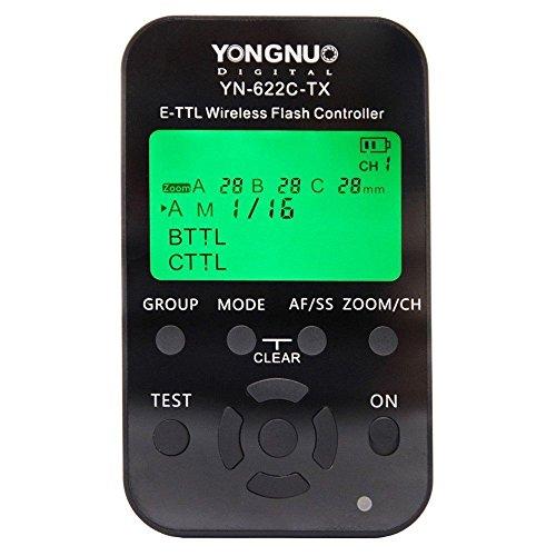 Yongnuo YN-622C-TX E-TTL Funkauslöser für Canon 500D 550D 600D 650D 700D 1000D 1100D 50D 60D 70D 1D 1D2 1D3 1D4 1Ds 1Ds2 1Ds3 1DX 1DC 5D 5D2 5D3 6D 7D...