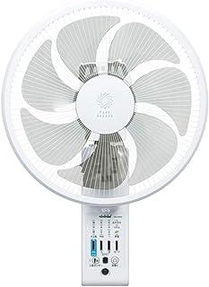 トヨトミ 壁掛け扇風機 リモコン式 人感センサー付 ホワイト FW-S30JR(W)