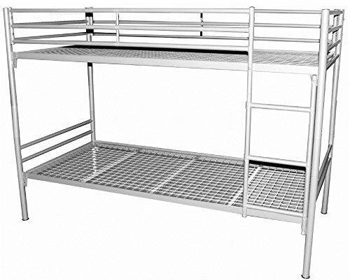 Metalletagenbett 2 x Liegefläche 90/200 Kinder-Hochbett Kinder Bett - (3313)