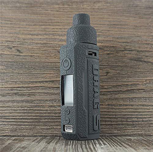 ORIN Voopoo Drag S Funda de silicona textura para Voopoo Drag S AntiSlip Cover Shield Sleeve Wrap Decal Skin (negro)