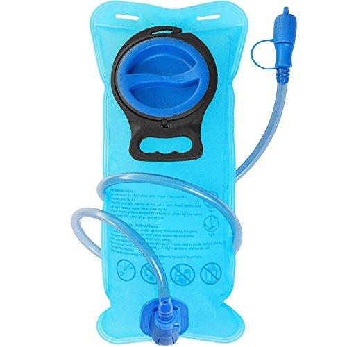 TEUEN Trinkblase 2 Liter Tragbare Wasserblase für Trinkrucksack Laufen Joggen Wandern Radsport Camping (BPA-Frei und FDA-Zertifizierung)