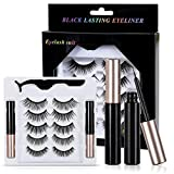 AngelBaby Magnetic Eyelashes, Natural Look Eyelashes with 5 Different Styles Pairs in One Package with Size 13mm 15mm 16mm, Natural Black Color Reusable False Eyelashes
